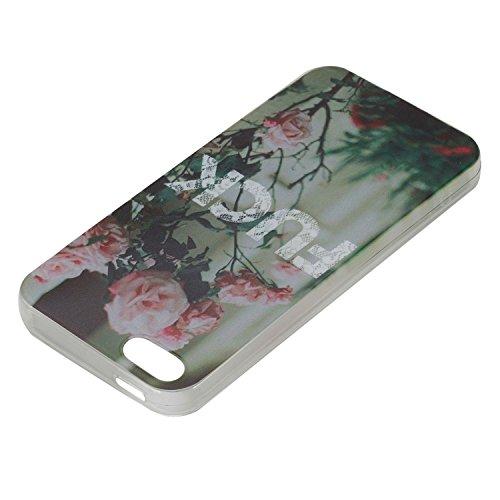Für Apple iPhone 5 5G 5S / iPhone SE (4 Zoll) Hülle ZeWoo® TPU Schutzhülle Silikon Tasche Case Cover - HX017 / FUCK