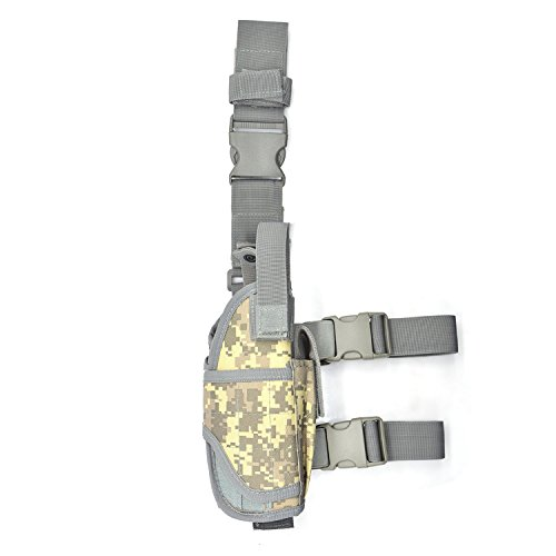 Tactical Holster/Leg Holster/Drop Leg Bag/Gun Holster,Freehawk® Military Adjustable Right Leg Handgun Holster...
