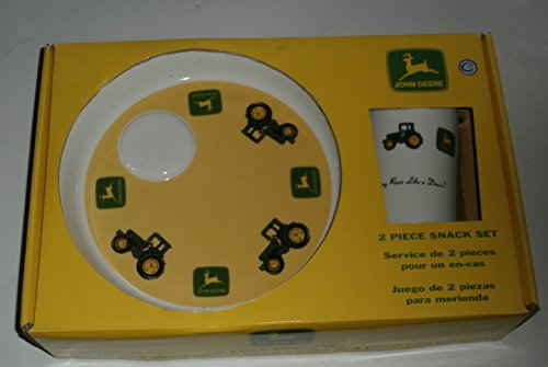 John Deere Ceramic (John Deere 2-Piece Ceramic Snack Set Plate and Mug)