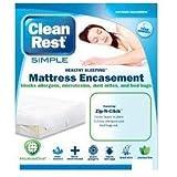 CLEAN BRANDS Clean Rest SIMPLE Mattress Bed Bug Encasement Cover HOTEL KING