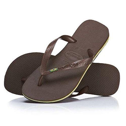 Havaianas Brasil Dark Brown Hombres Mujeres Summer Unisex Flip Flops