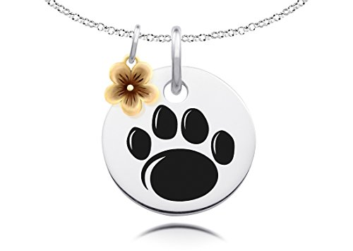 Penn State University Nittany Lions Collegiate Necklace with Gold Flower Charm Accent