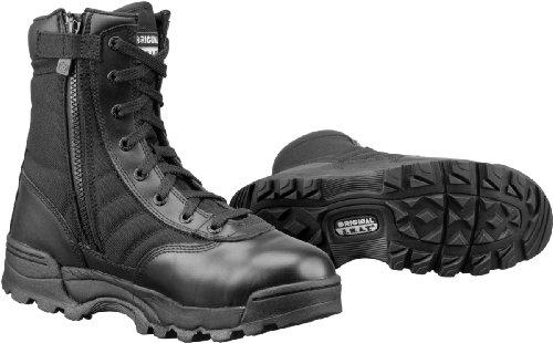 "Original SWAT 1152 Classic 9"" Tactical Boot with Side Zipper, Black, 8.5"