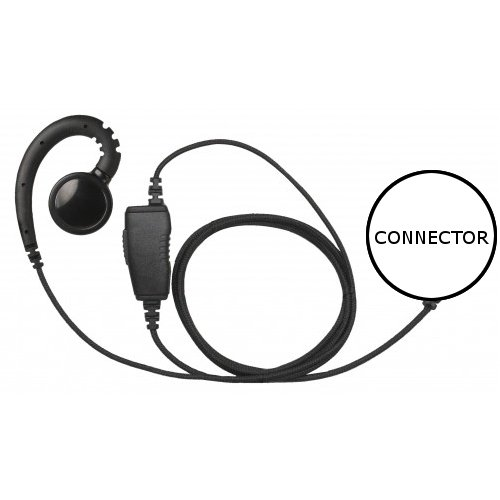 1-Wire Swivel Fiber Cloth Shield Earpiece Large Speaker for HYT TC-610P 700P by Earpieces