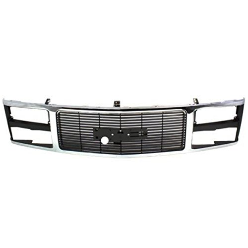 (Koolzap For 88-93 C/K Fullsize Pickup Truck Grill Grille Assembly Chrome GM1200229 15615109)