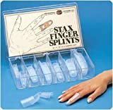 Sammons Preston Stax Finger Splints: Mallet Finger Splint (Box of 30 Assorted Sizes)
