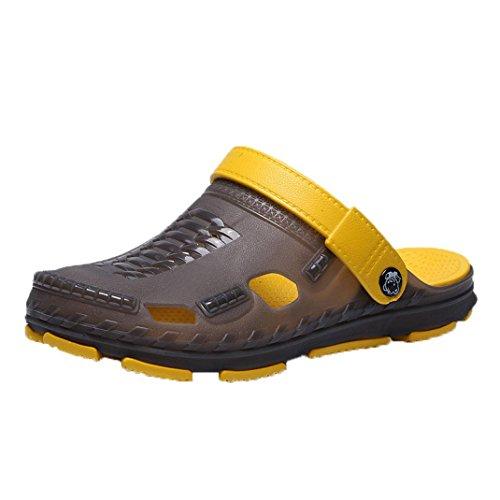 Aurorax Unisex Flip Flops Flat Sandals,Casual Vacation Beach Shoes for Men Women Slipper (M-Gray, US:9) (Suede Unisex Glove)