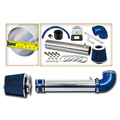Rtunes Racing Short Ram Air Intake Kit + Filter Combo BLUE Compatible For 88-95 Toyota 4Runner / Pick Up / T100 2.4L …: Automotive