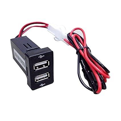 TOOGOO(R) Cargador rapido de Dos puertos USB de montaje de ...