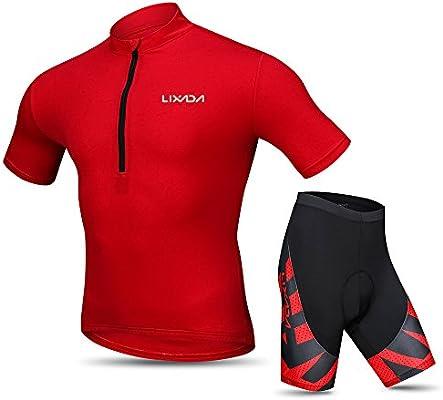 Lixada Maillots de Ciclismo Hombres Verano Camisa Transpirable de ...