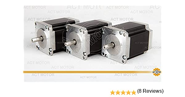 ACT Motor GmbH 3pcs Motor Paso a Paso NEMA23 Stepper Motor ...