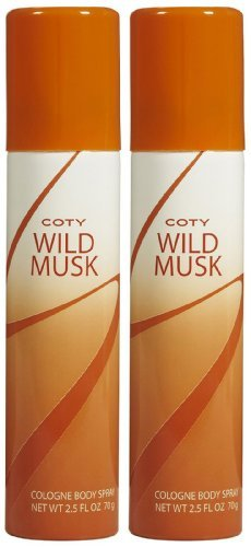 Coty Wild Musk Cologne Body Spray - 2.5 oz - 2 pk
