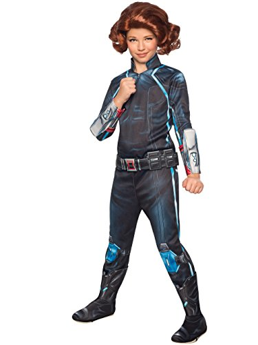 Costumes Halloween Widow (Rubie's Costume Avengers 2 Age of Ultron Child's Deluxe Black Widow Costume,)