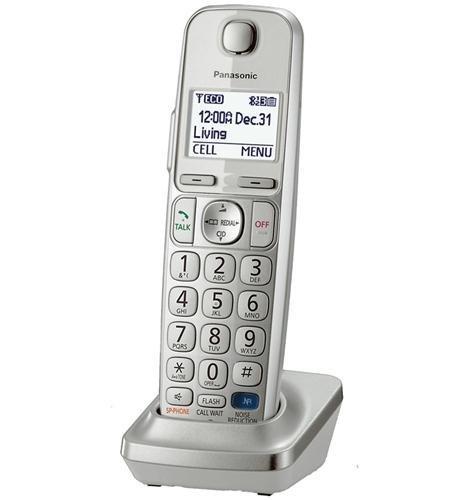 Panasonic KXTGEA20S Digital Cordless Handset for TGE210/230/240/260/270 series, Silver (Certified ()