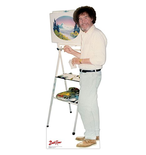Bob Ross - Talking - Advanced Graphics Life Size Cardboard Standup WITH Motion Activated Voice Box from Advanced Graphics