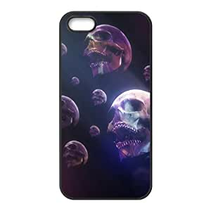 Flying skulls Phone Case for iPhone 5S(TPU)