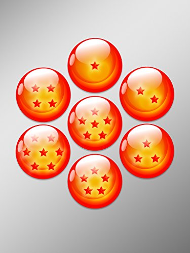 7 Dragon Balls DBZ Vinyl Decal Sticker | Cars Trucks Vans Walls Laptops Cups | Printed | 7 - 1.75 Inch Decals | KCD927
