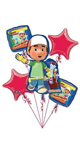 Handy Manny Balloon Bouquet Birthday Party Decoration (Handy Manny Birthday Supplies compare prices)