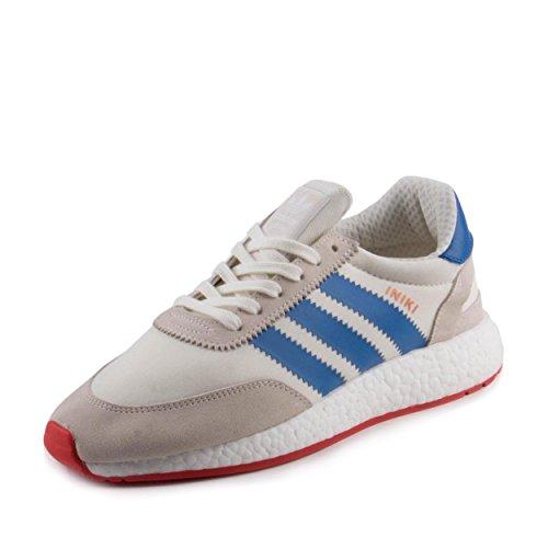 adidas Men's Iniki Runner White/Blue/Red BB2093 (SIZE: 10)