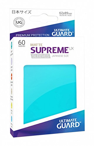 Supreme Japanese UX Card Sleeves (60 Piece), Matte - Seal Aquamarine