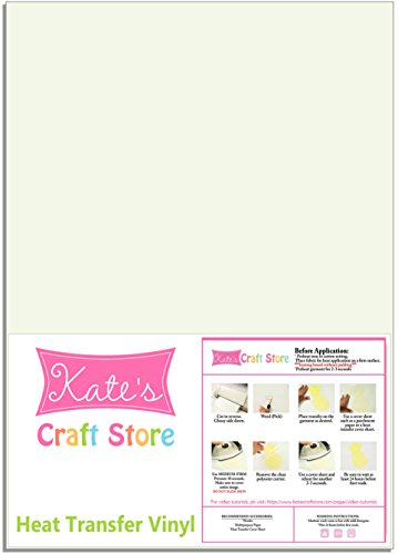 Kate's Craft Store - 12'' x 15'' Siser Easyweed T-Shirt Iron-on Heat Transfer Vinyl Sheet - GLOW IN THE DARK by Kate's Craft Store