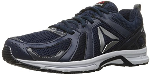Running Shoe, Collegiate Navy/Ash Grey/White/Silver, 8.5 M US (Collegiate Runner)