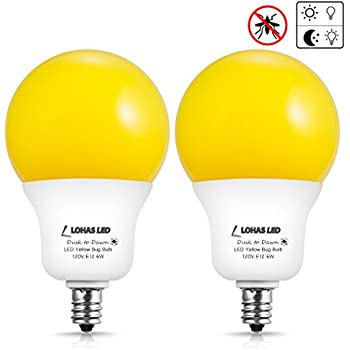 Lohas Dusk To Dawn Yellow Bug Sensor Light Bulb A19 Porch