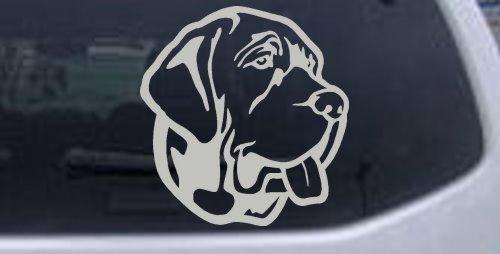 - 6in X 5.6in Silver -- Mastiff Dog Animals Car Window Wall Laptop Decal Sticker