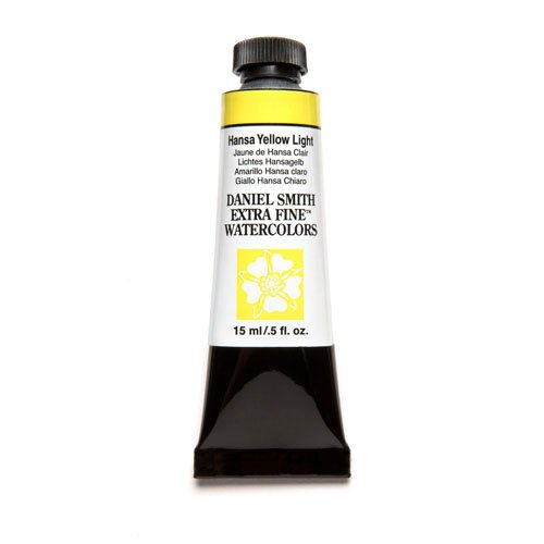 DANIEL SMITH Extra Fine Watercolor 15ml Paint Tube, Hansa Yellow Light ()
