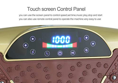 TODO Vibration Platform Power Plate Wholebody Vibrating Massager- Remote Control/Bluetooth Music/USB Connection(Gold-Smile) by TODO (Image #3)