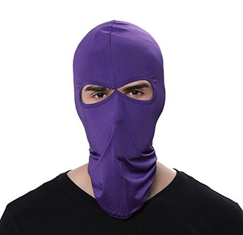 (GANWAY Wind Cap Motorcycle Ski Masks Balaclavas Outdoor Sports Cycling Hat (Purple))