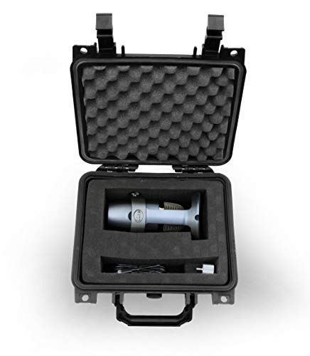 CASEMATIX Mic Case Fits Blue Yeti Nano USB Microphone and Small Blue yeti Nano Accessories - Includes CASE ONLY, Does ONT FIT Original Blue YETI MIC