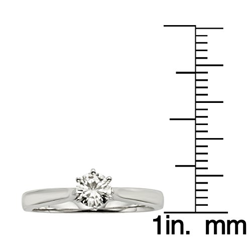 Forever Brilliant 6 Prong 5.0mm Moissanite Engagement Ring, 0.50ct DEW by Charles & Colvard