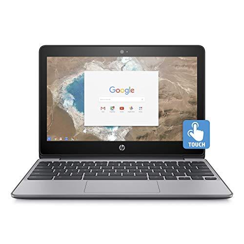 HP Chromebook 11.6in HD Touch Screen with IPS, Celeron N3060 @ 1.6GHz, 4GB RAM, 16GB eMMC, Gray (Renewed) ()