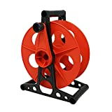 Coleman Cable E-103 Cord Storage Wheel, Holds Up To 150 Feet of 16/3 Gauge Extension Cord Or 125 Feet of 14/3 Gauge Cord, Holiday Lights, rope, Hose Reel Storage and Light Wire, Heavy Duty Plastic