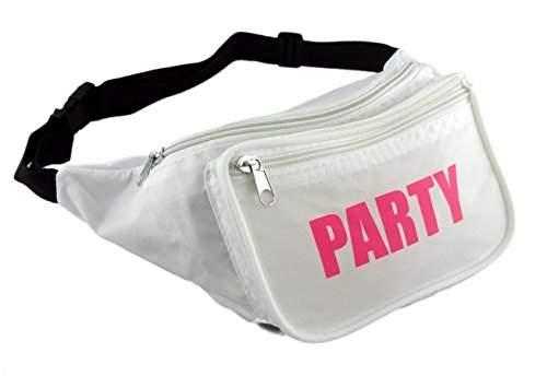[Funny Guy Mugs PARTY Fanny Pack, White] (Ideas For Halloween Costumes For Guys)