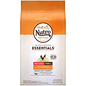 Nutro Wholesome Essentials Small Breed Adult Dry Dog Food Farm-Raised Chicken, Brown Rice & Sweet Potato Recipe, 3 lb. Bag