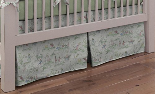 Carousel Designs Nursery Rhyme Toile Sage 2-Piece Crib Bedding Set