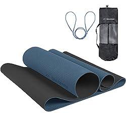 EliteAthlete Yogamatte - Fitnessmatte - Gymnastikmatte - Übungsmatte aus hochwertigen TPE für Fitness Pilates…