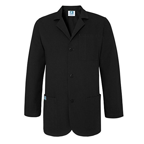 Adar Universal 31'' Mens Classic Consultation Coat - 805 - Black -L