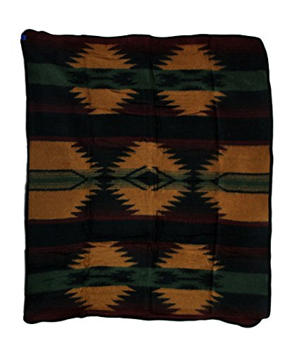 Zeckos Acrylic Throw Blankets Plush Fleece Zapotec Throw Blanket 50 X 60 In. 50 X 60 X 0.25 Inches Multicolored