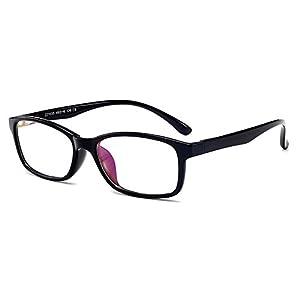 Fantia Unisex Child Non-Prescription Glasses Frame Clear Lens Kids Eyeglasses (2#-Black)