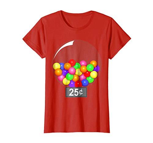 Womens Gumball Machine Quarter Couples Halloween Costume T-Shirt XL -