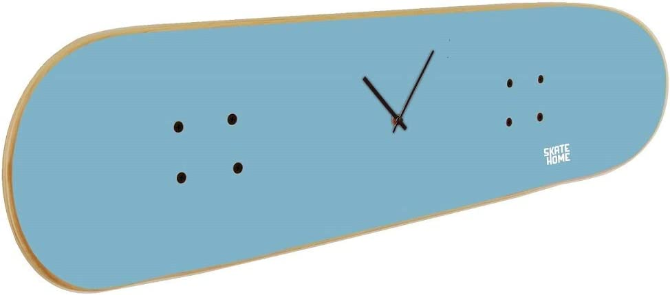 Skate Clock with Skateboard for Young Skateboarder in Blue Sky Color