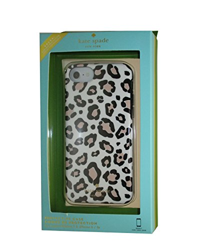 Leopard Iphone Case (Kate Spade New York Leopard Print Protective Rubber Case For iPhone 7 & iPhone 6)