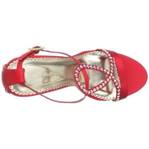 Johnathan Kayne Womens Monroe Platform Sandal Red Silk 7EvkHKjEJ