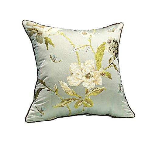 NYDZDM Chinese Modern Mahogany Sofa Pillow Cushion, High-Precision Jacquard Pad, Bedside Leather Sofa Car Waist Pillow Pillowcase (Color : A, Size : 50cm50cm)