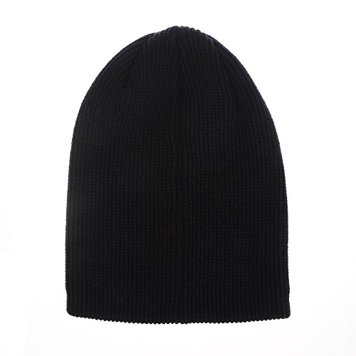 Beanie Gorros Hat Patched CR5105 Vintage Negro WITHMOONS Knitted de Punto PCqII