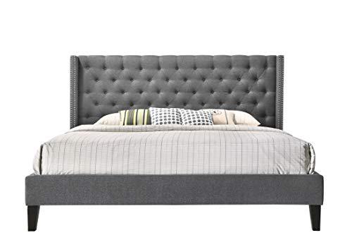 Y Pacifica Contemporary Bed, King, Gray ()