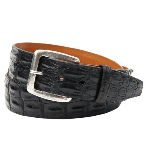 [Trafalgar Sheldon Hornback Saltwater Crocodile Belt (42 Black)] (Hornback Crocodile Belt)